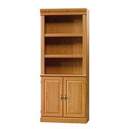 Sauder 402173 Orchard Hills Library With Doors, Carolina Oak