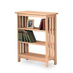 International Concepts Paintable 3 Shelf Bookcase with 2 Adj