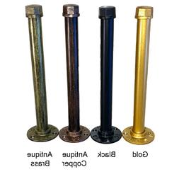 Pipe Shelf Bracket Industrial Gold Black Copper Green, Set o