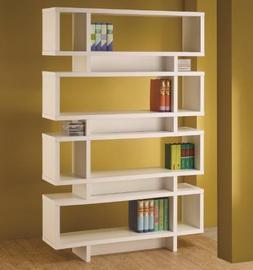 Retro Bookcase Mid Century Modern Style Bookshelves Wall Boo