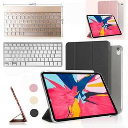 Slim PU Leather Folio Book Case +Bluetooth Keyboard For iPad
