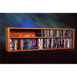 Solid Oak Wall or Shelf Mount for CD and DVD/VHS tape/Book C