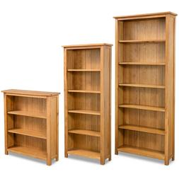 Solid Oak Wood 3/5/6-Tier Book Shelves Cabinets Bookcase Sto