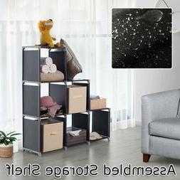 storage organizer closet shelves 6 cubes bookcase