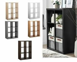 storage shelf organizer 6 cube bins display