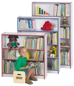 Standard Bookcase - Orange - Kids Classroom Furniture Daycar