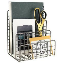 Three Wrought Iron Bookshelf Creative Metal Book Stand Deskt