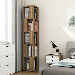 Tribesigns 5 Tier Rotating Bookshelf Storage Bookcase Modern