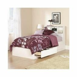 Twin Bed With Storage Drawers Frame Bookcase Headboard Platf