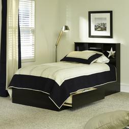 Twin Storage Bed With 2 Drawers Bookshelf Headboard Wood Fra