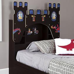 South Shore Furniture Vito Twin Castle Bookcase Headboard wi