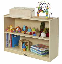 Birch Storage Cabinet 2 Shelf W/ Back Daycare Preschool Wood