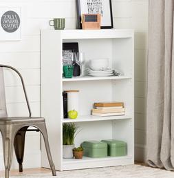 White 3-Shelf Bookcase Display Decor Storage Shelves Bookshe