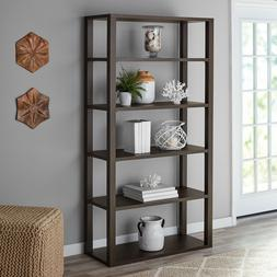WOOD BOOKCASE BOOKSHELF 5-Shelf Open Storage Organizer Displ